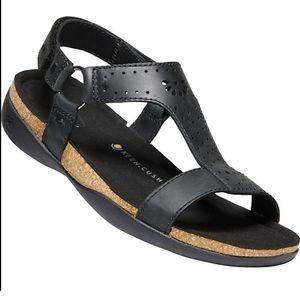 Keen Black Kaci Ana Leather T-Strap Sandals